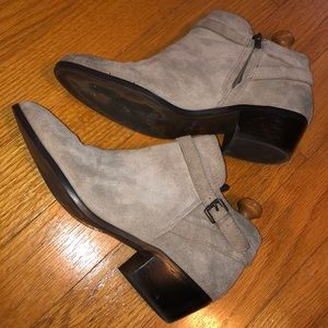 Sam Edelman Grey Leather Booties